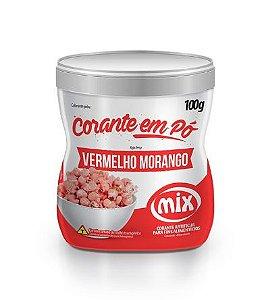 Corante em Pó Vermelho Morango MIX 100g
