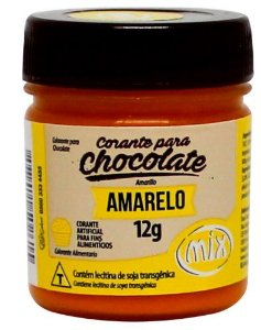 Corante Gel para Chocolate Amarelo MIX 12g
