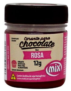 Corante Gel para Chocolate Rosa MIX 12g
