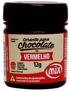 Corante Gel para Chocolate Vermelho MIX 12g
