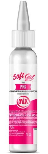 Corante Soft Gel Pink MIX 25g