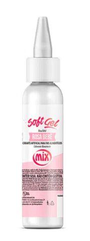 Corante Soft Gel Rosa Bebê MIX 25g