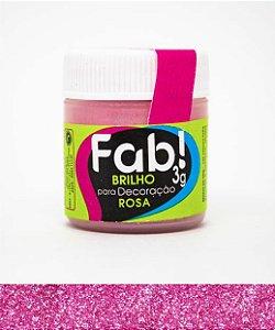 Brilho para Decoração  Rosa Fab 3g