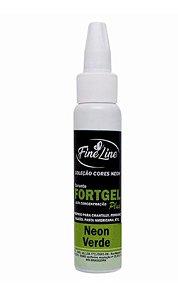 Corante Fortgel Neon Verde Fine Line 30g