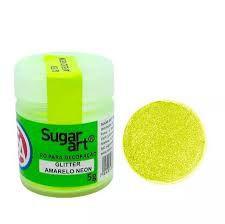 Pó Glitter Amarelo Neon  Sugar Art 5g
