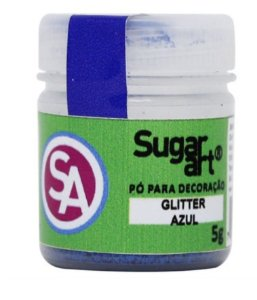 Pó Glitter Azul  Sugar Art 5g