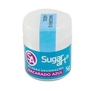 Pó Nacarado Azul Sugar Art 5g