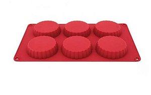 Forma Silicone 6 Tortinhas Yazi
