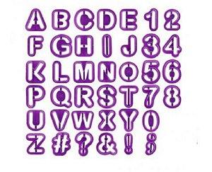 Molde Letras e Números 40 Peças Yazi