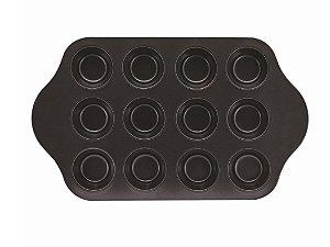 Forma Aço Carbono 12 Muffins Yazi