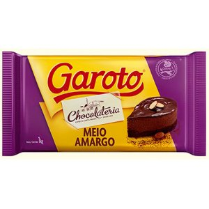 Chocolate Meio Amargo Garoto 1kg
