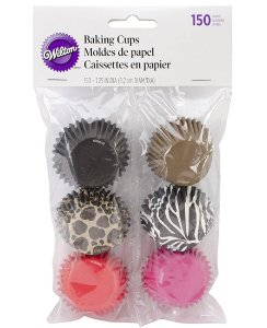 Forma de Papel Mini Muffins Animais Wilton 150unid