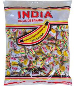 Bala India de Banana Zanatta 700g