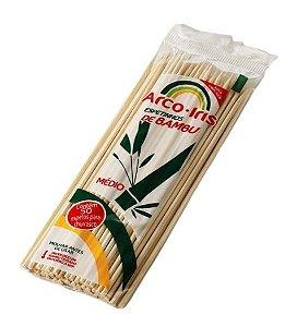 Espeto de Bambu Arco Íris 25cm