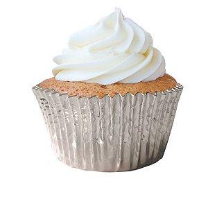 Forminha Mini Cupcake Prata Nº2 c/ 50 unid.