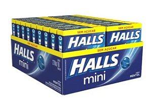 Drops Halls Mini Zero Mentol Mondelez 270g
