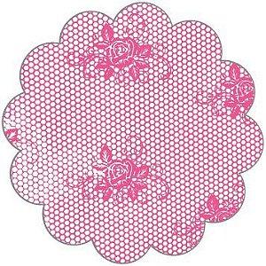 Fundo para Doces Renda Pink 7 cm - 100 unid.
