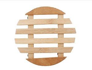 Descanso de Panela Bambu Redondo Yazi 17cm