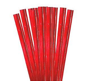 Fecho Rápido Metalizado Vermelho Laleti 5cm x 4mm C/100