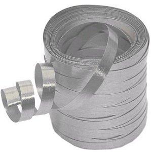 Fitilho Metalizado Prata Laleti 5mm x  30m