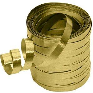 Fitilho Metalizado Dourado Laleti 5mm x  30m