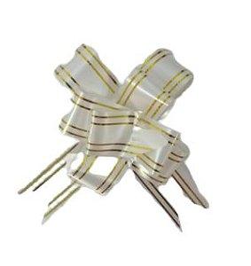 Laço Pronto Braco e Dourado Laleti 28cm x 480mm c/10