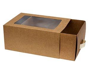 Caixa com Gaveta Kraft Premium Decora c/ 1 Unid