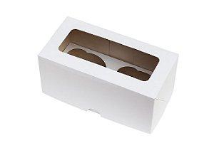 Caixa para CupCake Branca Decora 2 cavidades c/5 und