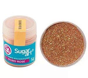 Pó para Decoração Ouro Rose Sugar Art 3g