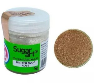 Pó para Decolarção Glitter Ouro Rose Sugar Art 5g
