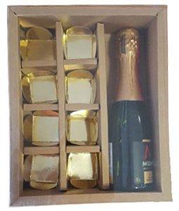 Caixa Mini Garrafa com 8 divisões Kraft Pac Box