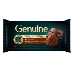 CHOCOLATE AO LEITE GENUINE 1KG
