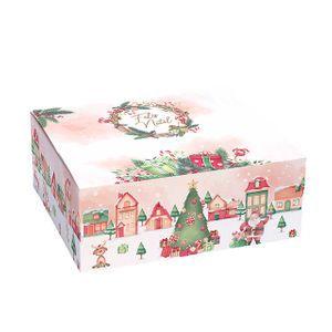 CAIXA CAKE BOX NATAL VINTAGE PP 1 UNID.