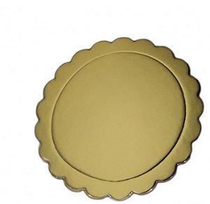 Cake Bord Prata/Ouro Pacthii 15cm