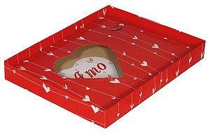 Caixa Coração Amo Você - Decora 500/250g  c/ 5unid