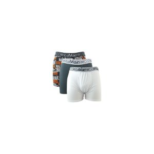 Kit 3 Cuecas Boxer Cotton CiaMan - Sortidas