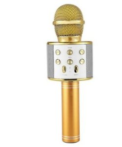 Microfone Sem Fio Handheld KaraokeAlto-falante Bluetooth Gravar Música Microfones