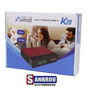 Receptor Fta Audisat Huracan K20 Full Hd Com Acm 2 Lnb Wi-Fi Hdmi