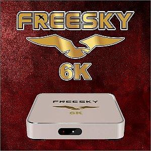 Receptor Freesky 6K Ultra HD Wi-Fi com IPTV/USB/HDMI e Bluetooth - Dourado