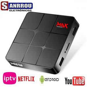 RECEPTOR MÍDIA MAX ULTRA HD 4K WI-FI/HDMI/USB