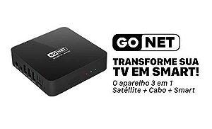 RECEPTOR GONET N1 ANDROID 6.0 + 3 em1 Satelite+ Cabo+Smart
