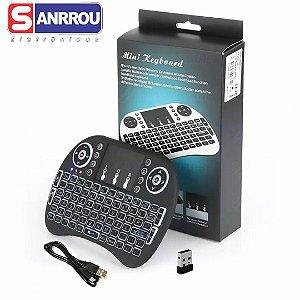 Teclado Controle Touch sem Led P/ Tv Pc Entrada Usb Sem Fio