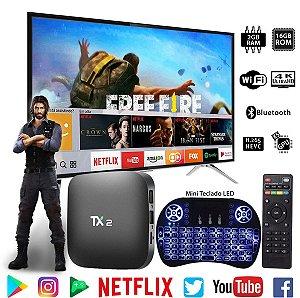 TvBox  Tx2 C/ Bluetooth 2gb 16gb Wifi+ Teclado Led