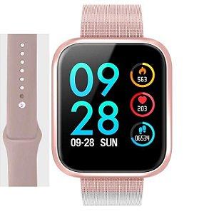 Relógio Smart Watch Oled Pro/ P80 C/ Duas Pulseiras