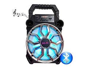 Caixa Som Grasep D-S8 Bluetooth 20w Usb Led Radio Fm Conecta Microfone