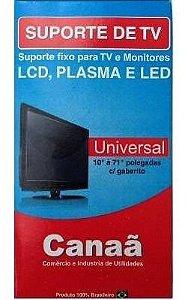 Suporte Tv Canaã Suporte Preto  Universal  Tv's Led E Plasma 14 a 70 Polegadas