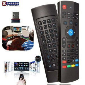 Controle Remoto Air Mouse + Teclado Wireless Smart Tv Box Pc