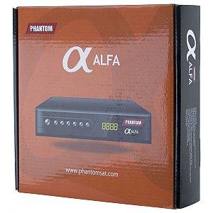 Phantom Alfa Full HD com IPTV / Wi-Fi / HDMI / USB Bivolt - Preto
