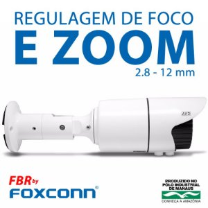Câmera Varifocal AHD 720p Infravermelho para até 40 Mts FBR 2.8mm à 12mm, FI-MBVIM FocusBras