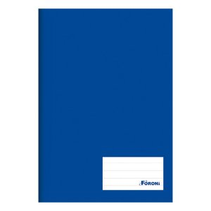 Caderno brochurão capa dura 96fls azul Foroni